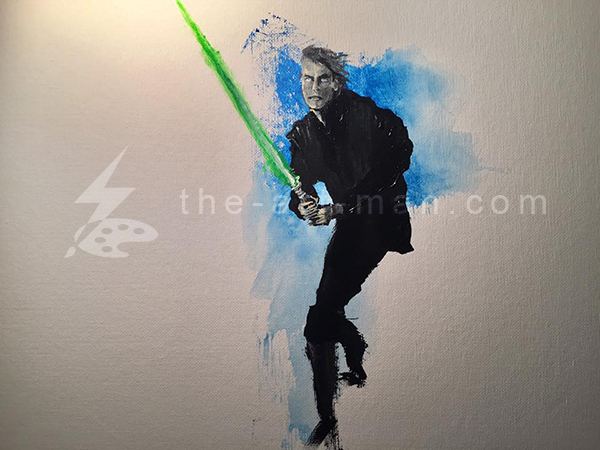 luke, skywalker, starwars, mark, hamill, sci-fi, movies, acrylics, painting, art, artwork, ocean, beach, landscape, landscapes