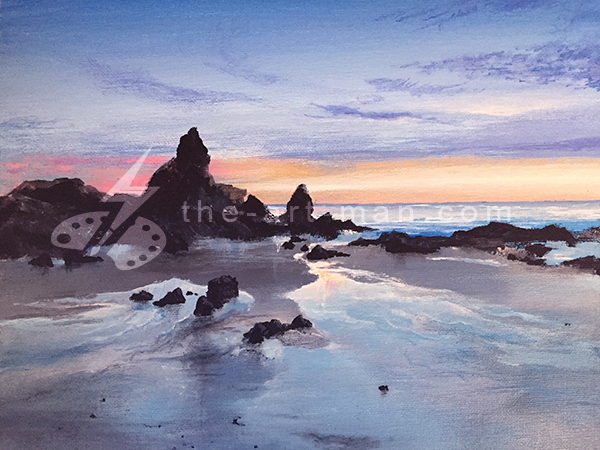acrylics, painting, art, artwork, ocean, beach, landscape, landscapes