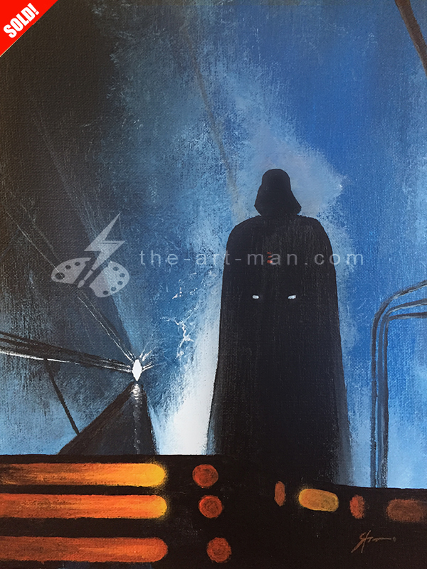 darth vader, starwars, bespin, carbonite, acrylics, painting, art, artwork, ocean, beach, landscape, landscapes