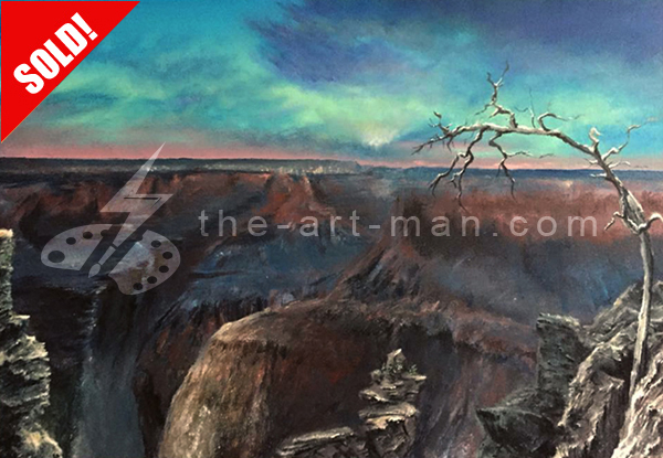 acrylics, painting, art, artwork, ocean, beach, landscape, landscapes, grand, canyon